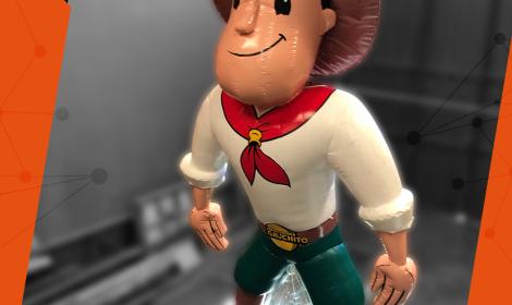 Nuevo inflable réplica de personaje animado